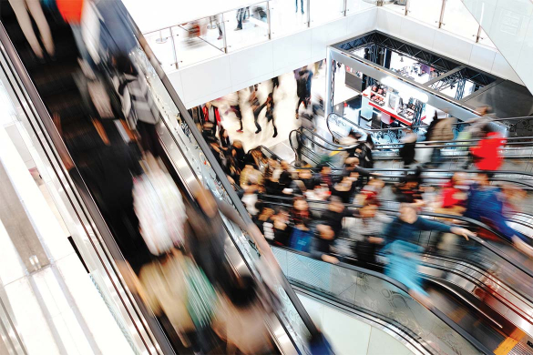 Evacuation at shopping centres