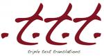 Triple Text T logo