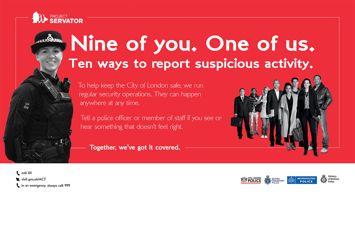 Project Servator poster 9 of you, 1 of us