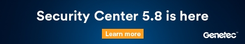 Genetec banner – security centre is here