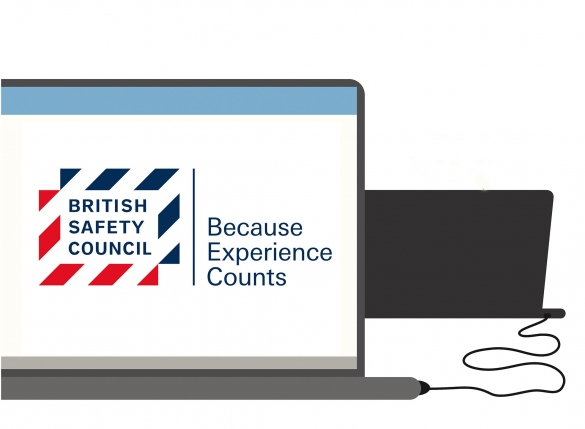 British safety council logo on a screen