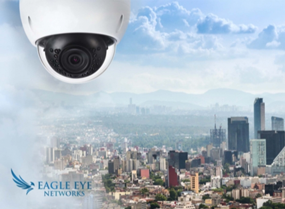 Eagle Eye Camera over a city