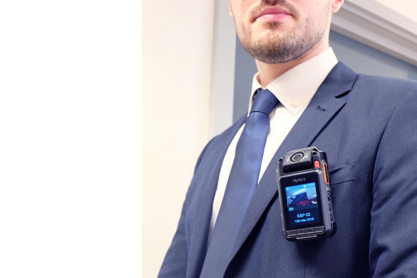 Bodyworn camera on man's lapel