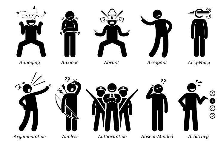 images of many behaving in different ways