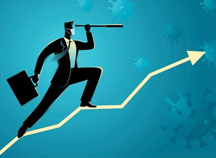 business man climbing